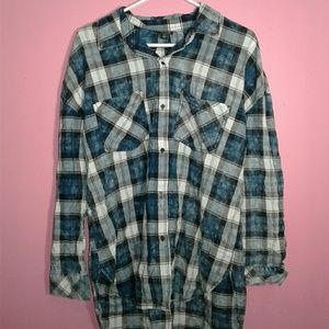 Leggings Flannel Shirt Large